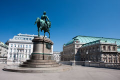 Architecture in Vienna. Frans Josef statue. Royalty Free Stock Images