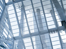 Architecture. View of modern blue colored contemporary office city buildings Stock Photography
