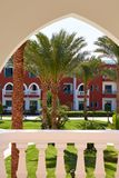 Architecture view thru arc of street in Hurghada, Egypt.  Stock Image