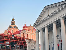 Architecture of Vilnius old town Royalty Free Stock Photo