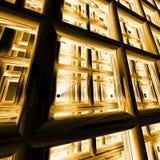 Architecture virtuelle - lumière arrière illustration stock