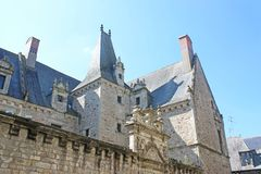 Architecture in Vitre, France stock photos