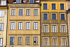 Architecture in Warsaw Old City Royalty Free Stock Photos
