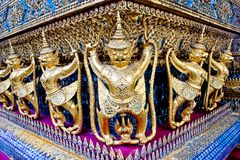 Architecture wat WatPhrakaew. In bangkok Stock Photo