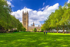 Architecture of the Westminster Palace in London Stock Photography