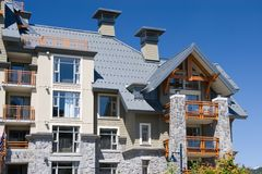 Architecture of Whistler. Vancouver - Whistler selected to host 2010 Winter Olympic Games Royalty Free Stock Photography