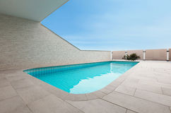 Architecture whit pool Royalty Free Stock Photo