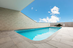 Architecture whit pool Stock Images