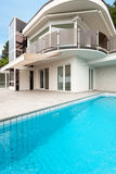 Architecture whit pool Stock Photography