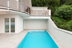 Architecture whit pool Stock Image