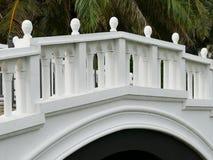 The architecture of white bridge Royalty Free Stock Photo