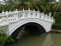 The architecture of white bridge Stock Images
