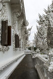 Architecture of white temple in Chiangrai Royalty Free Stock Image