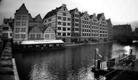 Architecture in wide angle. Artistic look in black and white. Royalty Free Stock Image