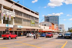 Architecture of Windhoek, Namibia. WINDHOEK, NAMIBIA - JAN 3, 2016: Architecture of Windhoek, Namibia. Windhoek is the capital and the largest city of Namibia royalty free stock photography
