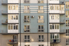 Architecture of window building modern style. Facade of a new mu Stock Photography