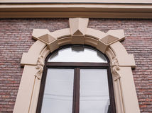 Architecture of the window molding in the future Royalty Free Stock Photo
