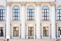 Architecture and windows of ancient renaissance style Stock Images
