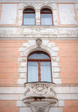 Architecture and windows of ancient renaissance style Stock Photography