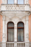 Architecture and windows of ancient renaissance style classical Royalty Free Stock Image