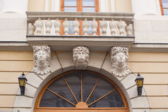 Architecture and windows of ancient renaissance style classical Royalty Free Stock Images