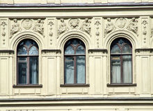 Architecture - windows and decorations royalty free stock image