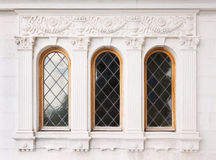 Architecture and windows of renaissance style Stock Photo