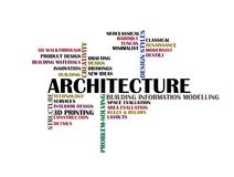 Architecture word cloud concept Royalty Free Stock Photos