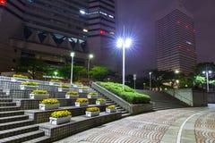 Architecture of Yokohama cityat night. Yokohama, Japan - November 6, 2016 : Architecture of Yokohama cityat night, Japan. Yokohama is the second largest city in Royalty Free Stock Photo