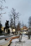 Architecture of Zaryadye park in Moscow. Popular landmark. stock photography