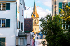 Architecture in Zurich city Royalty Free Stock Photo