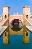 Architectures and canals of Comacchio. Italy, Comacchio, the  Monumentale bridge  or Della Pallotta bridge XVII century Stock Photo