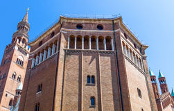The architectures of Cremona. Italy, Cremona, Duomo Square, the Baptistery Stock Photo