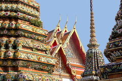 Architectures of the Grand Palace, Bangkok. Details of roof architectures at the temple and Grand Palace of Bangkok Stock Photos
