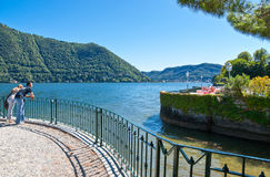 Architectures and landscapes of Como Lake Stock Images