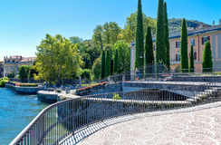 Architectures and landscapes of Como Lake Royalty Free Stock Image
