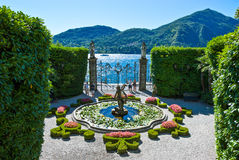 Architectures and landscapes of Como Lake Stock Photos