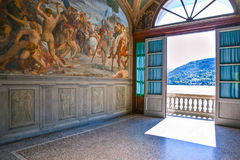 Architectures and landscapes of Como Lake Stock Photo