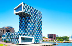 The architectures and landscapes of Rotterdam. Rotterdam, The Nederlands - July 18, 2016: The modern architectures of the  Shipping and Transport College on the Stock Photography