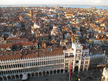 Architectures on Piazza San Marco and Cityscape of Venice view from the Campanile. Italy Royalty Free Stock Photo