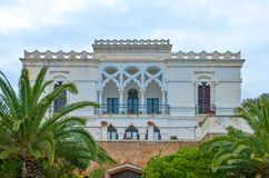 The architectures of Santa Maria di Leuca. Santa Maria Di Leuca, Italy, the famous villas of the nineteenth century, on the seafront Royalty Free Stock Photos