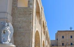 The architectures of Santa Maria di Leuca. Santa Maria di Leuca, Italy, the Sanctuary of St. Mary of Finibus Terrae Royalty Free Stock Image