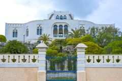The architectures of Santa Maria di Leuca. Santa Maria Di Leuca, Italy, the famous villas of the nineteenth century, on the seafront Royalty Free Stock Image