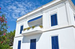 The architectures of Santa Maria di Leuca. Santa Maria Di Leuca, Italy, a villa of the early twentieth century, on the seafront Royalty Free Stock Image