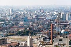 Architectuur achtergrondstad Sao Paulo Stock Afbeeldingen