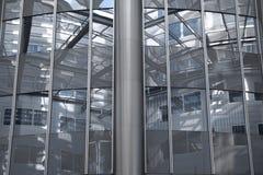 Architectuur: Binnen van een wolkenkrabber (Wenen/Oostenrijk) royalty-vrije stock fotografie