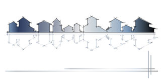 Architectuur - bouwbedrijf Royalty-vrije Stock Foto's