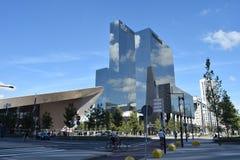 Architectuur Centraal Rotterdam Stock Afbeelding