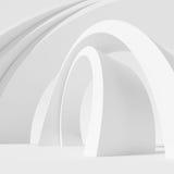 Architectuur Cirkelachtergrond Abstract de bouwontwerp Stock Foto's