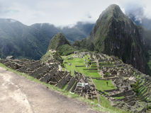 Architectuur complexe Machu Picchu in Peru Stock Fotografie